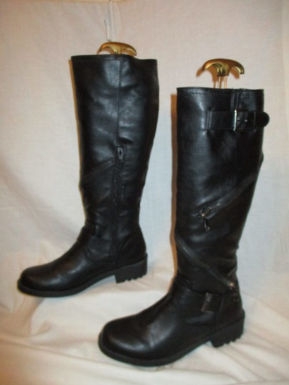 Mossimo Supply Co. Tall Faux Leather Man Made Vegan 001 black Boots Image 3