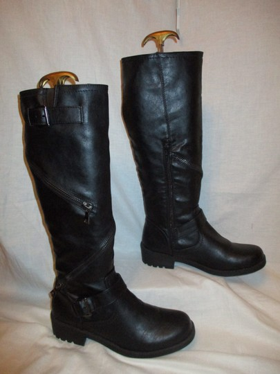 Mossimo Supply Co. Tall Faux Leather Man Made Vegan 001 black Boots Image 4