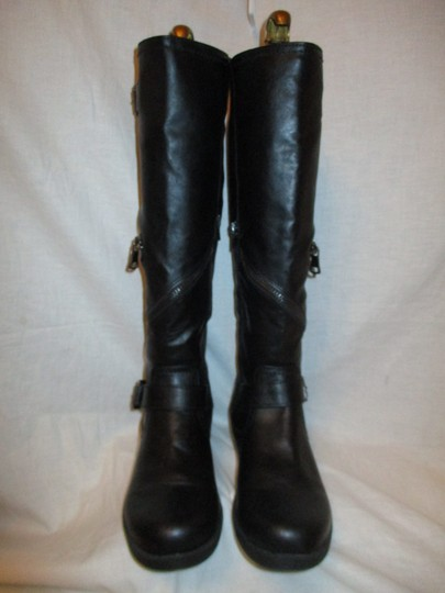 Mossimo Supply Co. Tall Faux Leather Man Made Vegan 001 black Boots Image 5