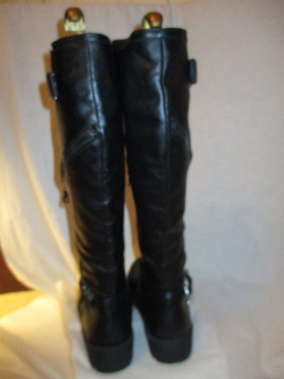 Mossimo Supply Co. Tall Faux Leather Man Made Vegan 001 black Boots Image 7