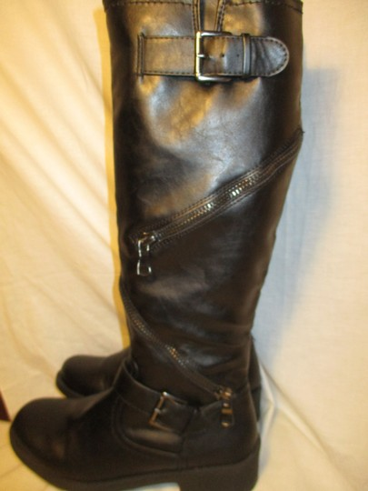 Mossimo Supply Co. Tall Faux Leather Man Made Vegan 001 black Boots Image 8