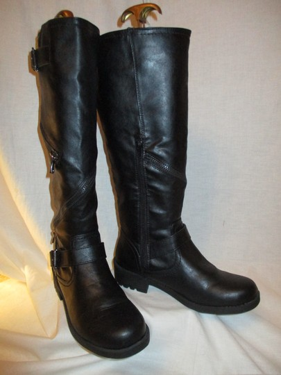 Mossimo Supply Co. Tall Faux Leather Man Made Vegan 001 black Boots Image 9