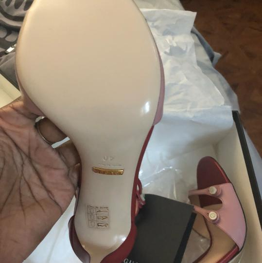 Gucci Leather Open Toe rose and red Pumps Image 4