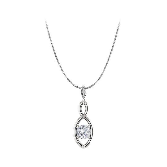 Preload https://img-static.tradesy.com/item/23753029/white-brilliant-cut-cubic-zirconia-infinity-pendant-silver-necklace-0-0-540-540.jpg