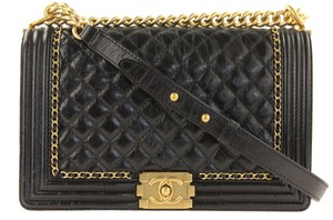 Chanel Leather Clutch Shoulder Bag