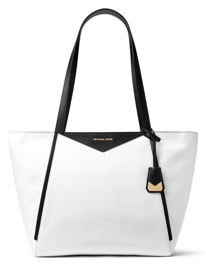 Preload https://img-static.tradesy.com/item/23753215/michael-kors-whitney-medium-pebble-tote-optic-white-black-leather-shoulder-bag-0-0-540-540.jpg