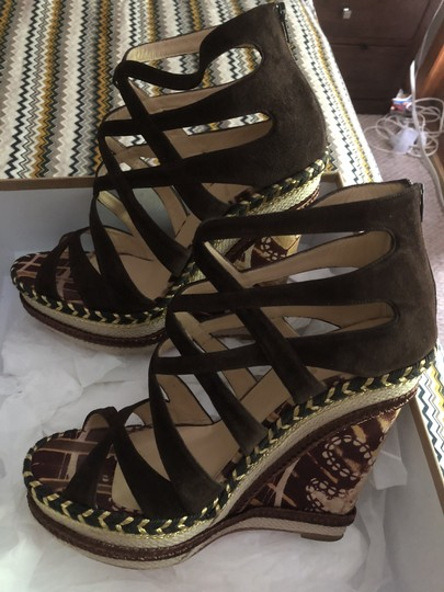 Christian Louboutin Brown suede Wedges Image 2