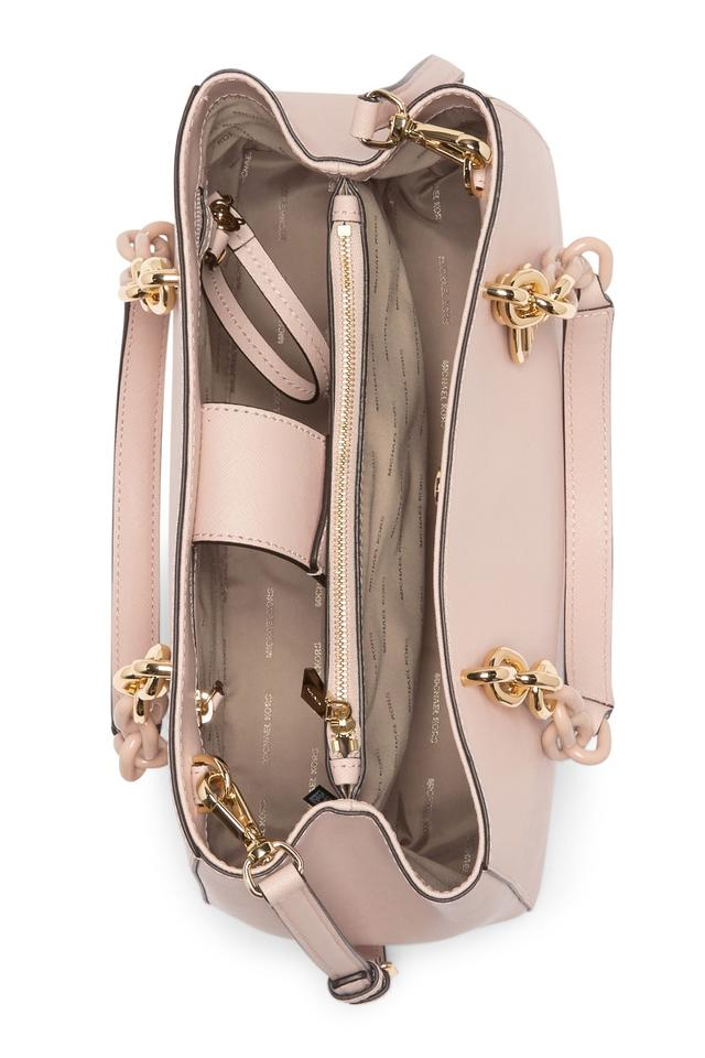 15126582a5a0 MICHAEL Michael Kors Medium Cynthia Saffiano Leather Shoulder Satchel in  Soft Pink Image 6. 1234567