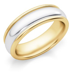 Apples of Gold 6mm Two-tone Ring Women's Wedding Band