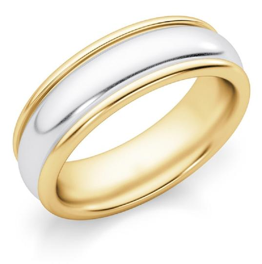 Apples of Gold 6mm Two-tone Ring Women's Wedding Band Image 1