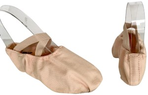 Capezio Slippers Canvas Leather Drawstring LIGHT PINK Flats