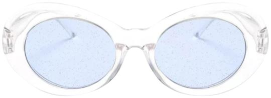 Preload https://img-static.tradesy.com/item/23753519/-clearblue-fashion-glitter-lens-sunglasses-0-2-540-540.jpg