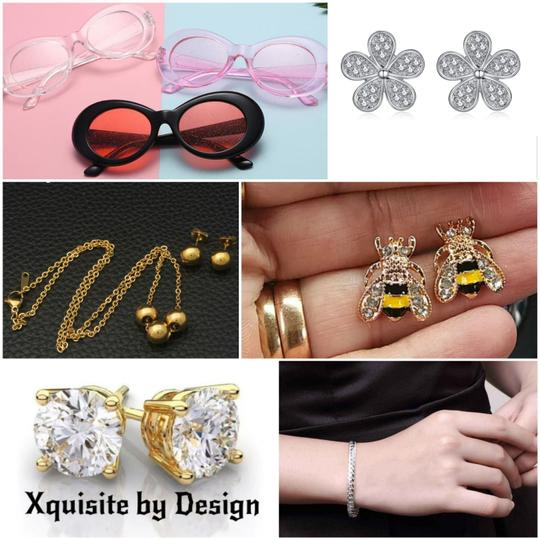 Xquisite by DESIGN FASHION GLITTER LENS SUNGLASSES Image 5