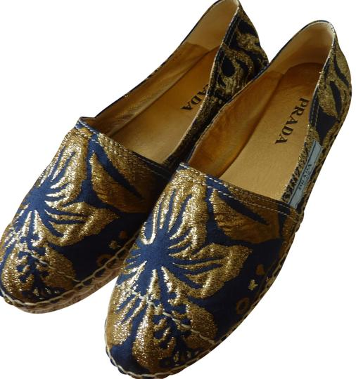 Preload https://img-static.tradesy.com/item/23753531/prada-navygold-ladies-metallic-espadrilles-in-navygold-sz-85b-flats-size-us-85-regular-m-b-0-1-540-540.jpg