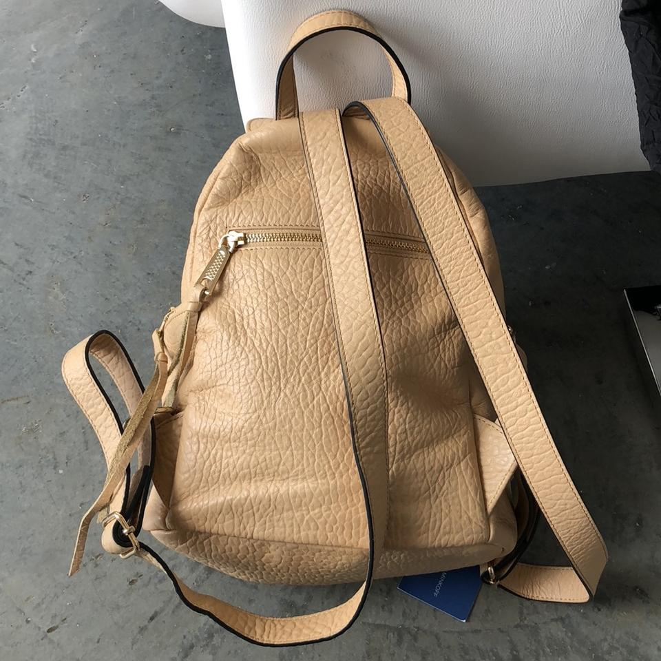 Rebecca Minkoff Beige Dylan Backpack Pebbled Leather waOqz7w