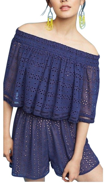 Preload https://img-static.tradesy.com/item/23753681/anthropologie-navy-tiered-eyelet-off-the-shoulder-by-ranna-gill-short-romperjumpsuit-size-16-xl-plus-0-1-650-650.jpg