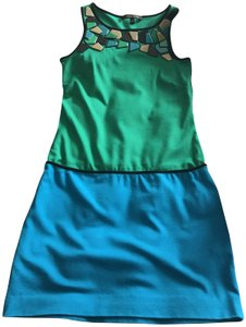 Cynthia Steffe short dress Green/Blue on Tradesy