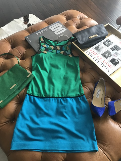 Cynthia Steffe short dress Green/Blue on Tradesy Image 4