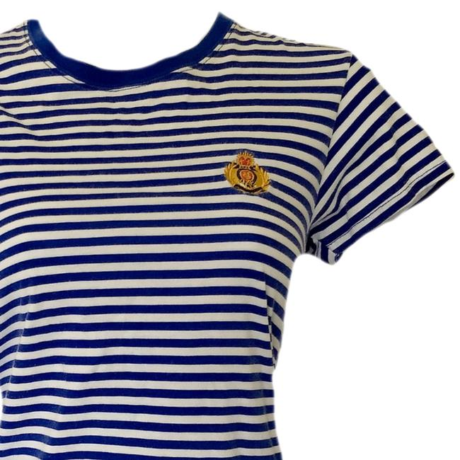 Vintage 90s Retro 1990s Nautical T Shirt blue Image 1