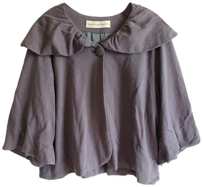 Preload https://img-static.tradesy.com/item/23753771/graham-and-spencer-gray-single-button-34-sleeve-swing-ponchocape-size-8-m-0-1-650-650.jpg
