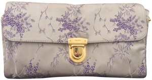 Prada Clutch Embroidered Floral Cross Body Bag