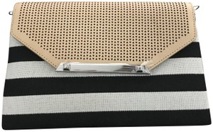 Stella & Dot Cotton Canvas Black/Cream Clutch