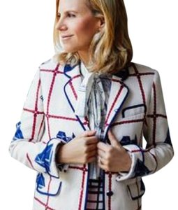 Tory Burch beige and multi color Jacket