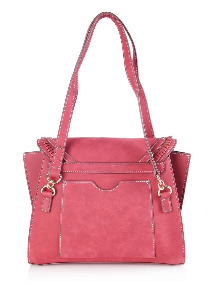 Moschino Love Artificial Bag 54144 Red Handbag Leather Shoulder f1wfSU