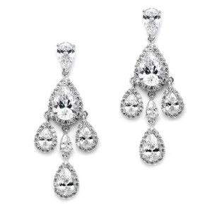 Crystals Chandeliers with Tear Drops Earrings