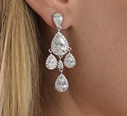 Crystals Chandeliers with Tear Drops Earrings Image 1