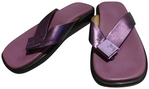 LOUIS VUITTON PURPLE SOLE; PURPLE METALLIC Sandals