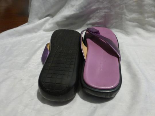 LOUIS VUITTON PURPLE SOLE; PURPLE METALLIC Sandals Image 10