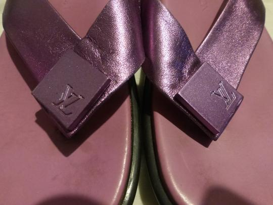 LOUIS VUITTON PURPLE SOLE; PURPLE METALLIC Sandals Image 3