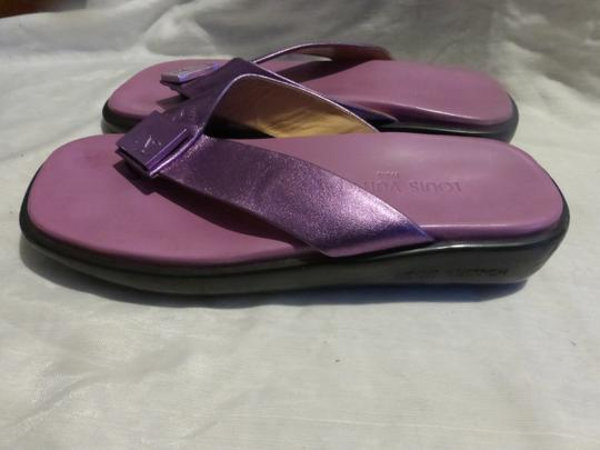 LOUIS VUITTON PURPLE SOLE; PURPLE METALLIC Sandals Image 4