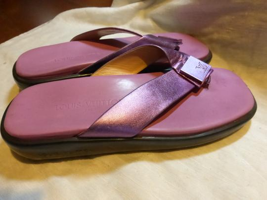 LOUIS VUITTON PURPLE SOLE; PURPLE METALLIC Sandals Image 7
