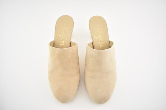 Chanel Slide Backless Quilted Stiletto beige Mules Image 5