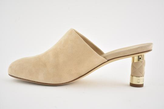 Chanel Slide Backless Quilted Stiletto beige Mules Image 6