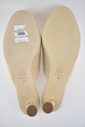 Chanel Slide Backless Quilted Stiletto beige Mules Image 10