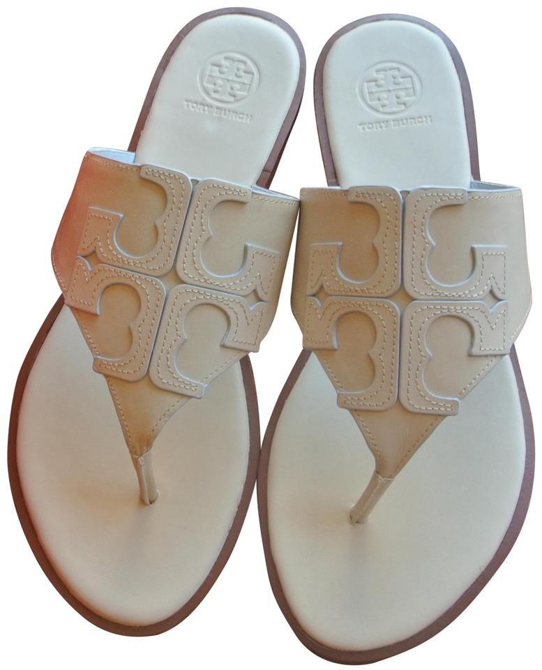 Tory Burch Jamie End-of-summer-sale Dulce Sandals De Leche Full Logo Sandals Dulce e5fca8