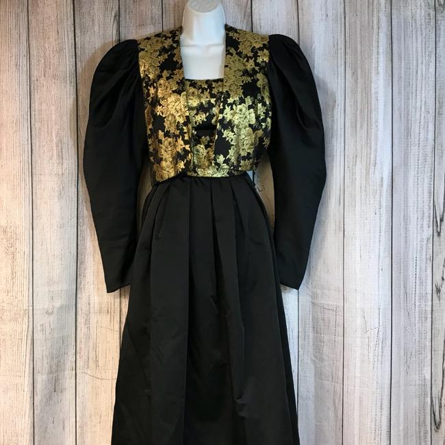 Mignon Gold And Vintage Dress Image 4