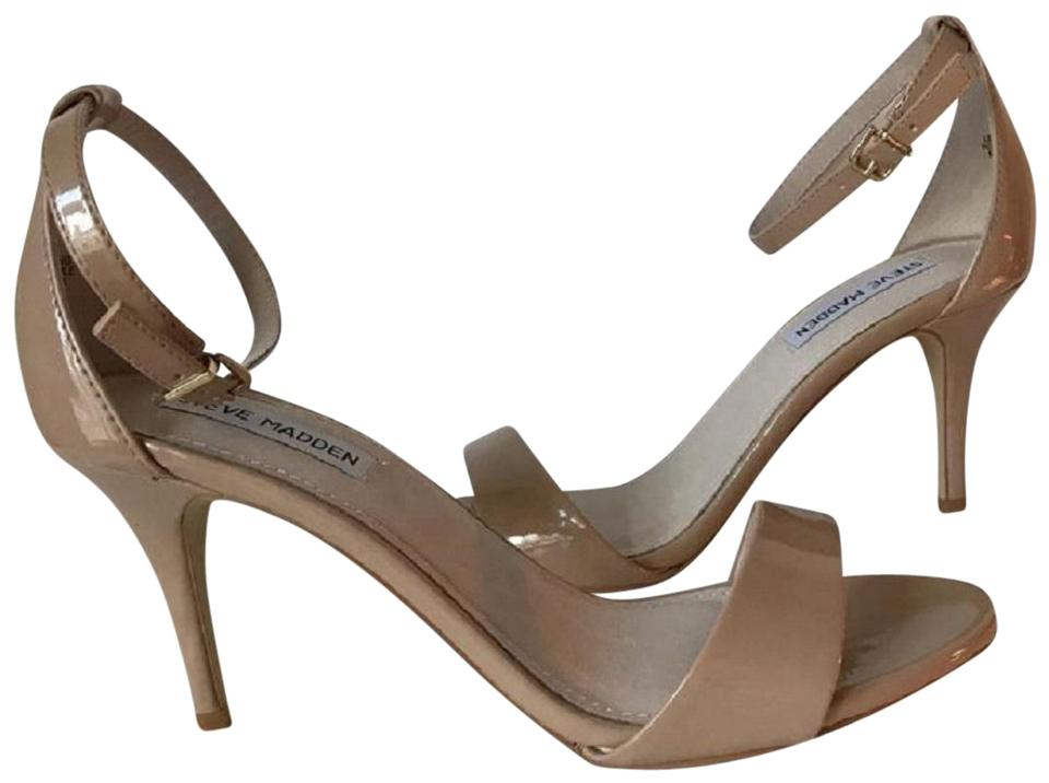 0e26f4b49e6 Steve Madden Beige Silly Blush Nude Patent Stacy 7.5 M Sandals Size ...