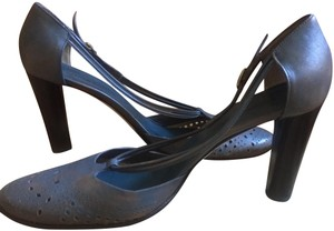 CoSTUME NATIONAL Distressed Blue Pumps