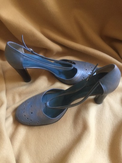 CoSTUME NATIONAL Distressed Blue Pumps Image 1