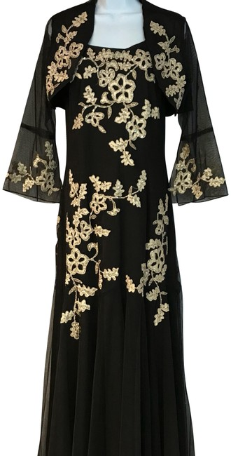 Preload https://img-static.tradesy.com/item/23754834/xscape-chocolate-embellished-appliqued-stretchy-gown-long-cocktail-dress-size-14-l-0-2-650-650.jpg