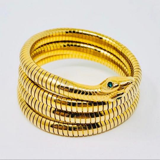 Antique Art Deco circa 1920s 14K rolled gold plated (RGP) snake coiled bracelet Image 1