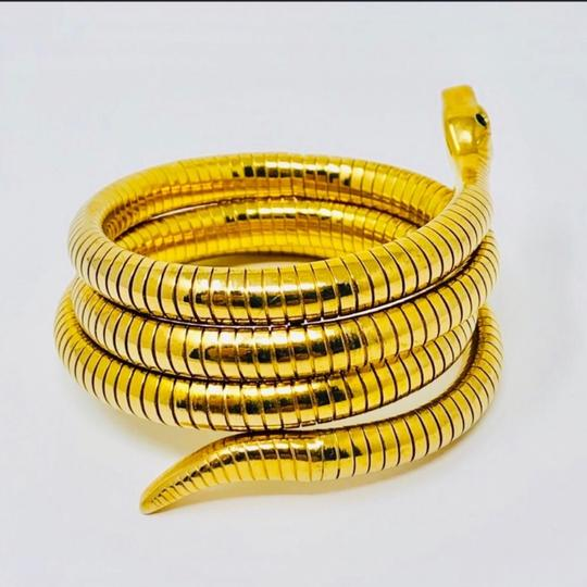 Antique Art Deco circa 1920s 14K rolled gold plated (RGP) snake coiled bracelet Image 3