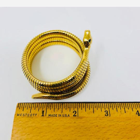 Antique Art Deco circa 1920s 14K rolled gold plated (RGP) snake coiled bracelet Image 7