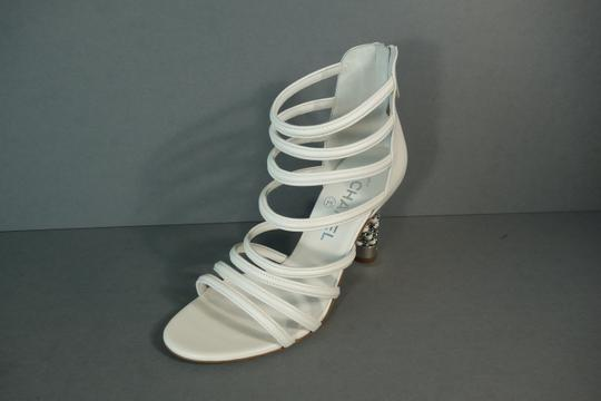 Chanel White Ivory Cream Sandals Image 1