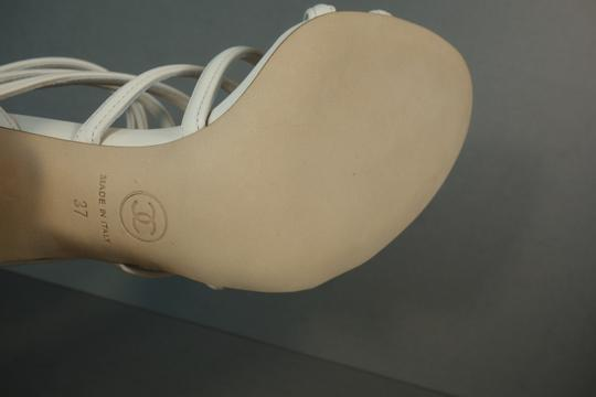 Chanel White Ivory Cream Sandals Image 10