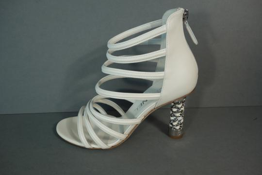 Chanel White Ivory Cream Sandals Image 3